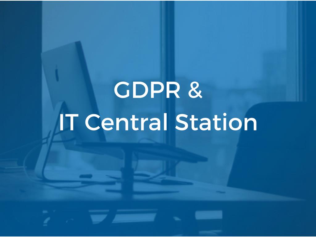 GDPR & IT Central Station