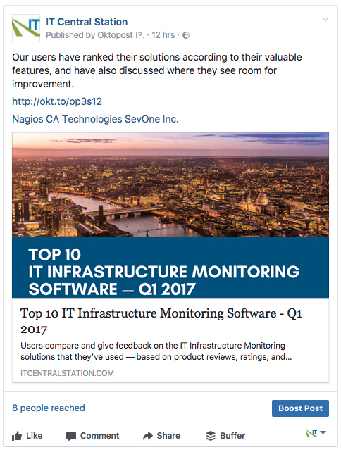 it infrastructure monitoring reviews