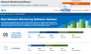 Top Network Monitoring Software for Large Companies